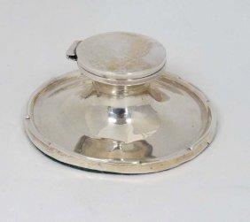 A Silver Capstan Formed Inkwell Hallmarked Birmingham