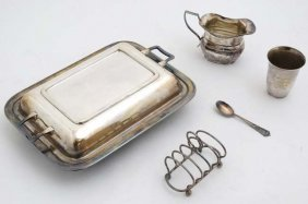 A Assorted Silver Plated Wares To Include Entree Dish