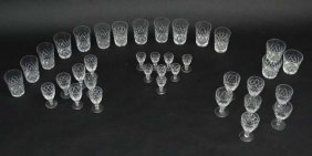 Assorted Cut Crystal Glass Ware To Include Tumblers,