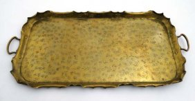 A Large Late 19thc Scottish Arts And Crafts Brass