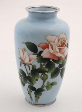 An Early 20thc Japanese Cloisonne Baluster Shaped Vase