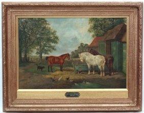 John Frederick Herring Jr (1820 - 1907), Oil On