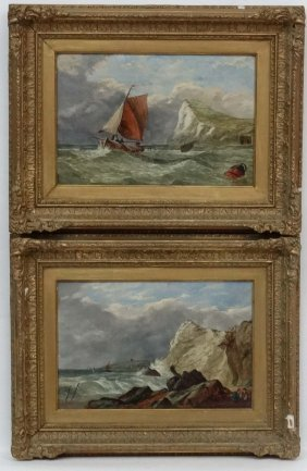 C Johnston Xix English Marine School, Oil On Canvas , A