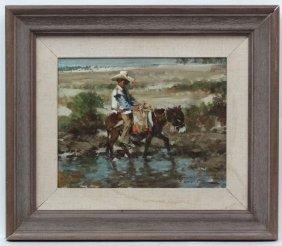 Ramon Kelley ( B. 1939 ) Nawa American, Oil On Canvas,
