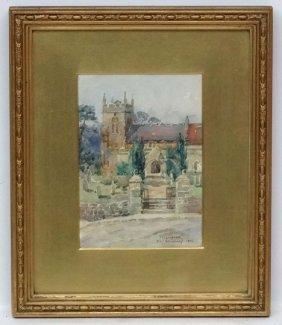 Elizabeth Whitehead 1912 Watercolour ' Cubbington ' St.