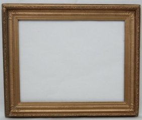 Picture Frame : A 19 Thc Painted Over Gilt Frame