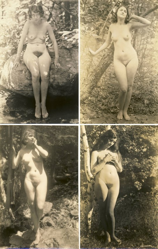 Nudist paintings of the early 1900s