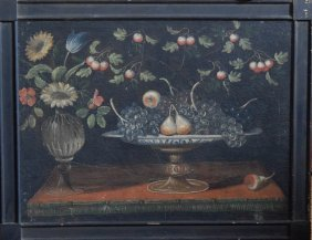Continental Old Master Oil Painting Of Still Life