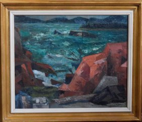 Modernist Painting Of Seascape