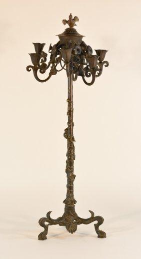 American Aesthetic Movement Bronze Candelabra