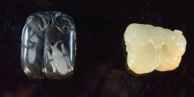 Two Chinese Nephrite Jade Pedant