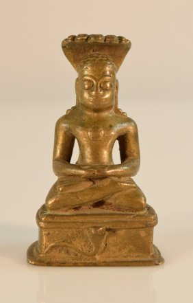Southeast Asian Bronze Statue Of Naga