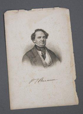 P.T. Barnum Pre-Civil War Autograph