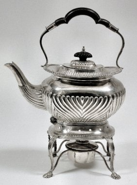 A Victorian Silver Tea Kettle And Stand, The Tea Ket