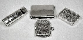 A George V Silver Combined Whistle And Vesta Case W