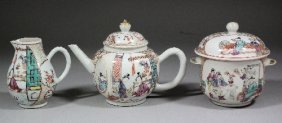 A Chinese Porcelain 'Famille Rose' Part Tea Servic