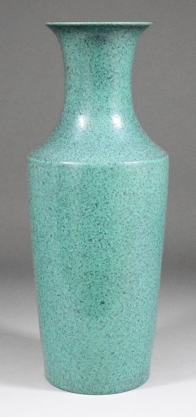 A Chinese Porcelain Vase With Flared Neck And Mott