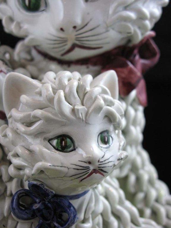 Vintage Italian Ceramic Spaghetti Cat Sculpture Lot 42