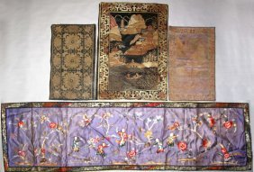 4 @ Chinese Silk Embroidery And Textile Panels