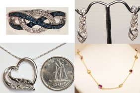 Sterling Silver, Diamond And Gemstones Collection