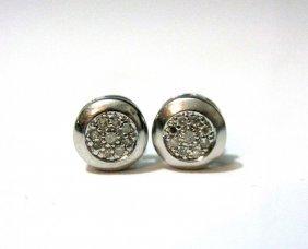 Sterling Silver & Diamond Post Earrings