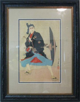 Natori Shunsen Kabuki Japanese Woodblock Print