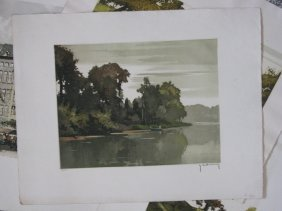 7 @ Hebbelinck & Continential Etchings In Color