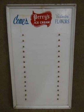 Perry's Ice Cream Menu Board