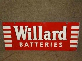 Willard Batteries Sign