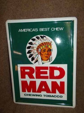 Redman Chewing Tobacco Sign