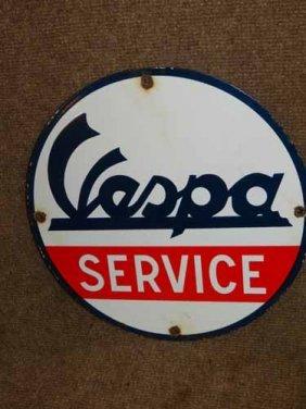 Vespa Service Sign