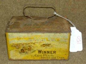Cut Plug Winner Tobacco Tin