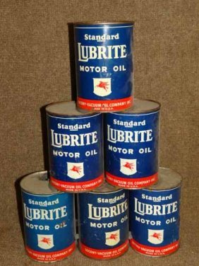 Socony Luberite Oil Cans