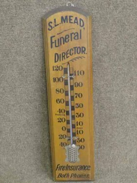 S.l. Mead Wooden Thermometer