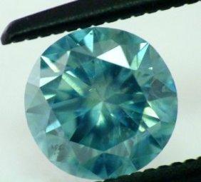 0.67 Ct Greenish Blue Si1 Round Natural Diamond