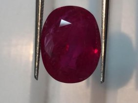 Natural Pigeon Blood Burma Ruby 6.22 Cts - Certified