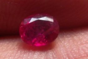 Stunning Vivid Red Ruby 0.95 Carats - No Treatment