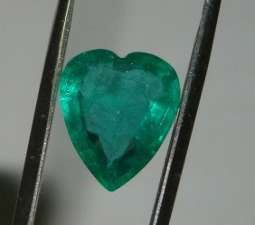 Emerald Heart Shape 2.57 Ct