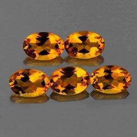Natural Yellow Citrine Gemstones 5.80 Carats - Vvs