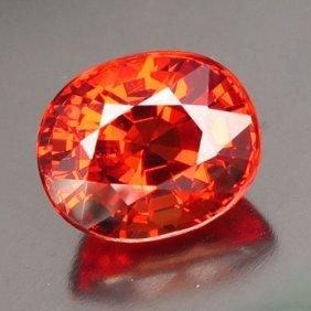 Natural Oval Mandrin Orange Spessartite 3.00 Ct - Vvs