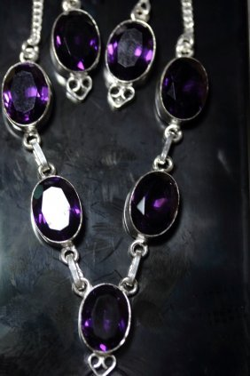 Stunning Natural Amethyst Necklace Set