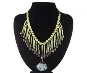 Natural Columbian Emerald Pendant Necklace
