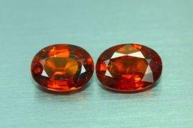Natural Hessonite Garnet Pair 6.35 Ct - No Treatment