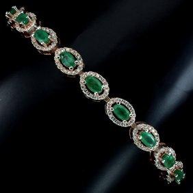 Natural Green Emerald Bracelet