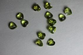 Natural Peridot Hearts 10.25 Carats - Vvs