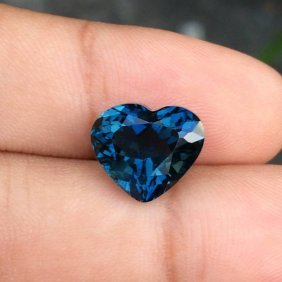 Natural Heart London Blue Topaz 6.42 Carats