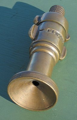 Antique Brass Fire Truck Hose Nozzle Rare!