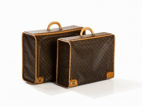 Louis Vuitton, 2 Suitcases With Side Zipper, 20th