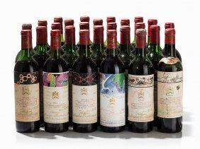 26 Bottles Château Mouton Rothschild Vertical,