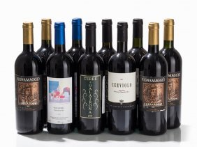 10 Bottles Tuscan Wine From 1995 To 1997